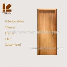 durable solid mahogany pretty flat with veneer single wooden door design