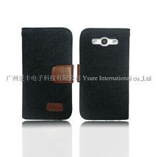 Black Denim Leather Case for Samsung Galaxy s3 i9300