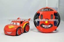cute and nice design mini cooper rc car with quick speed and 360 rotation