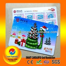 Plastic PVC 2013 pocket calendar card