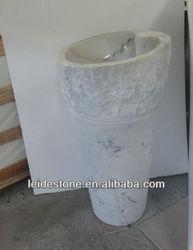 Guangxi white pedestal sink