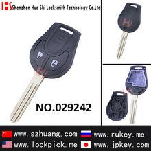 Venda quente, Serralheiro, Lockpick, Chave em branco, Shell remoto capa 2-button remoto caixa chave / 029242