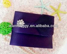 2012 royal purple bow shining diamond woman fashion clutch bag evening bag