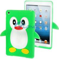 Cute Colorful Cartoon Animal 3D Stand Penguin Shape Silicon Case for Apple iPad mini