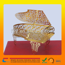 luxury gold plated cut out metal christmas ornament for home /office decoration