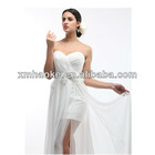 stunning sexy sweet-heart a-line chiffon flower sash low back wedding dress 2013