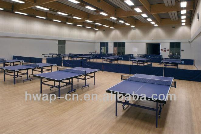 Pingpong court PVC flooring/GYM courts vinyl flooring indoor use 4.5mm