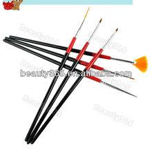 6 PCS Black Wooden Nail Brush set Dotting Pen wholesale