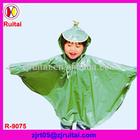 Fashionable 0.12mm 100%PVC rain poncho for kids