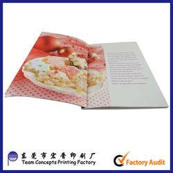 High quality menu book design and printing