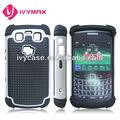 triple defensor de accesorios para teléfonos blackberry 9700 caso para el teléfono celular caso