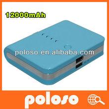 2012 fashionable universal portable power bank 10000