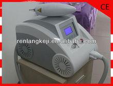 Beauty salon use portable 1064 nm / 532 nm q-switch nd:yag tattoo laser removal machine