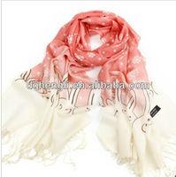 Fringed scarf 100%wool scarf