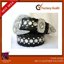 faux leather black western conchos beaded belt patterns