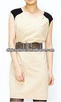 2014 office lady style simple sleeveless modern designer dresses