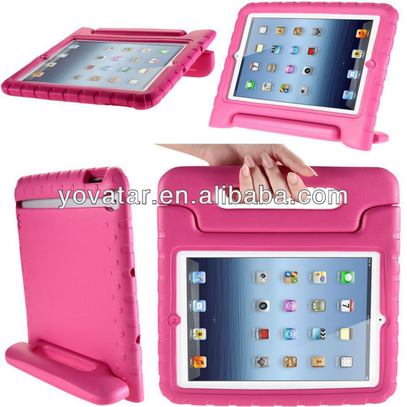 Light Weight Super Protection Convertable Stand Cover Case for Apple New iPad Mini 7.9 Inch for Kids Friendly (Pink)
