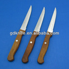 high quality stainless steel steak knife with wood handle