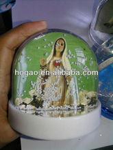 Religious Acrylic Water Globe Craft, Snow Balls Religious crafts