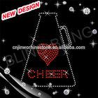Beautiful Cheer rhinestone applique design