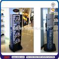 Tsd-m752 de la marca de la tienda deporte patines de ruedas pantalla/2 cara zapatos de metal soporte de exhibición para zapatos del patín/de exhibición del metal para el rodillo de la hoja