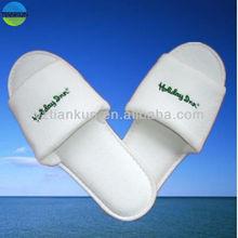 open toe style terry towel hotel slipper