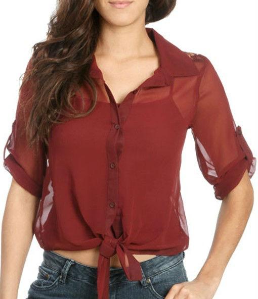 señoras 2013 nuevos modelos de blusa de gasa con encaje