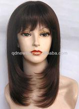 silky straight kanekalon synthitic hair wig