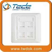 TEDE rj45 outlet faceplate 1/2/4/6 port