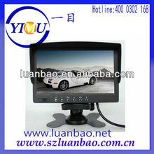 7 inch car sunvisor car monitor with DC 12V/DC 24V