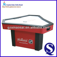 2014 new design wooden air hockey table for 3 person indoor playing