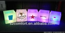 led beer bucket cooler holder
