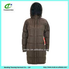 stylish softshell long style women winter duck down jacket