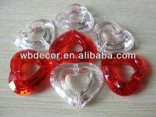 heart shape acrylic crystal gems,ice,diamond