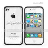 Cute bumper soft gel TPU case for iphone4 4S
