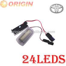 Super calidad de los accesorios del coche para vw lexus 24 smd led lado de la puerta/cortesía de la lámpara de luz de advertencia