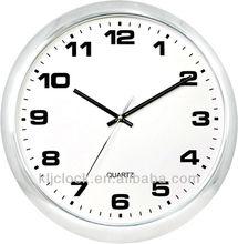 Home Decor Metal Wall Clock WH-9972 White Metal Wall Clock Simple Dial Design Quartz Wall Clock