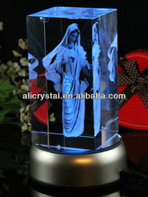 Hot sale crystal figurine picture engraved gifts for women