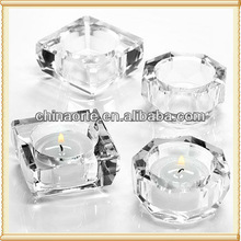 Optic Clear Crystal Candlestick Holder For Party Decoration