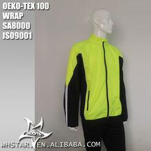 Fluorescent light patchwork windbreaker jacket for men
