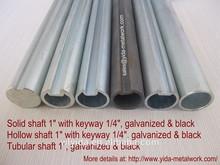 """Commercial garage door 1"""" hollow steel shaft with 1/4"""" keyway"""