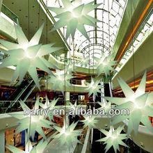Custom inflatable decorative light nine technical expertise, shining party use inflatable decoration, led inflatable stars