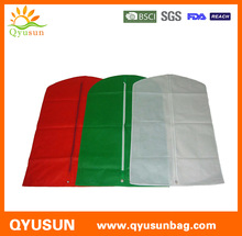 Promotion Zippered Nonwoven Garment Bag Suit Cover