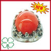 2013 Fashion Jewelry Silver Plated Brass Gemstone Cocktail Ring