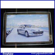 led crystal acrylic light box poster frame