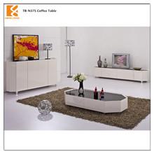 Longjiang Shunde Newland furniture factory modern high gloss mdf lounge furniture leisure tea table TB-N375