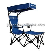 adult deck folding beach chair with sun canopy