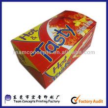 scatola di carta stampata di ali di pollo