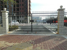 Wrought iron metal fence gate MADE in FACTORY with in-house powder coat line