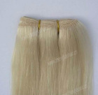22inch blonde color 100g/piece human hair extensions,light blonde human hair machine weft,silky straight human hair weaves cheap